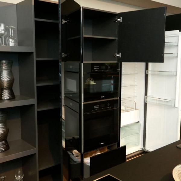Kh Küchen Glas Schwarz Pulverlack Silbermetallic Angebot (12)