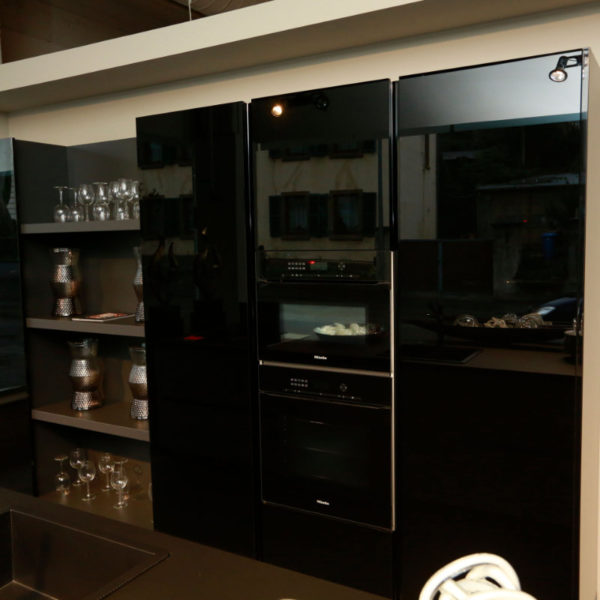 Kh Küchen Glas Schwarz Pulverlack Silbermetallic Angebot (3)
