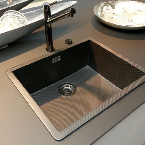 Kh Küchen Glas Schwarz Pulverlack Silbermetallic Angebot (5)