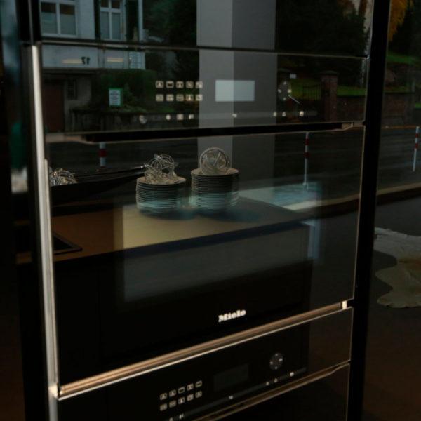 Kh Küchen Glas Schwarz Pulverlack Silbermetallic Angebot (8)