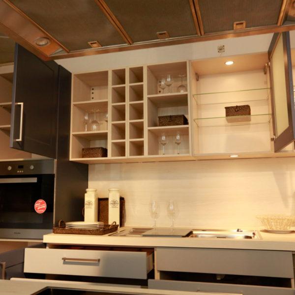 Nolte Küche Angebot Frame Papyrusgrau Blaubeere (1)