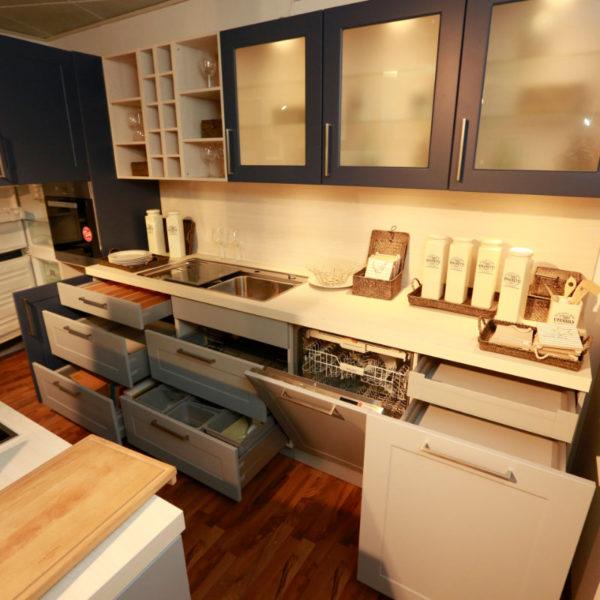 Nolte Küche Angebot Frame Papyrusgrau Blaubeere (10)