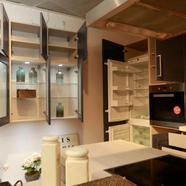 Nolte Küche Angebot Frame Papyrusgrau Blaubeere (11)