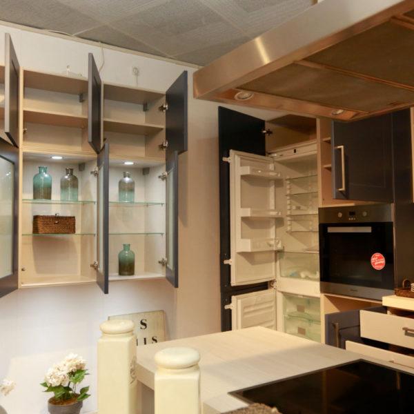 Nolte Küche Angebot Frame Papyrusgrau Blaubeere (12)