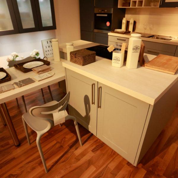 Nolte Küche Angebot Frame Papyrusgrau Blaubeere (3)