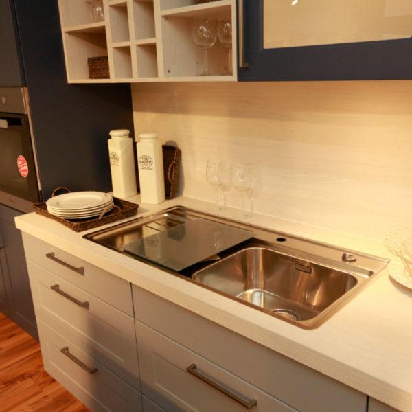 Nolte Küche Angebot Frame Papyrusgrau Blaubeere (5)