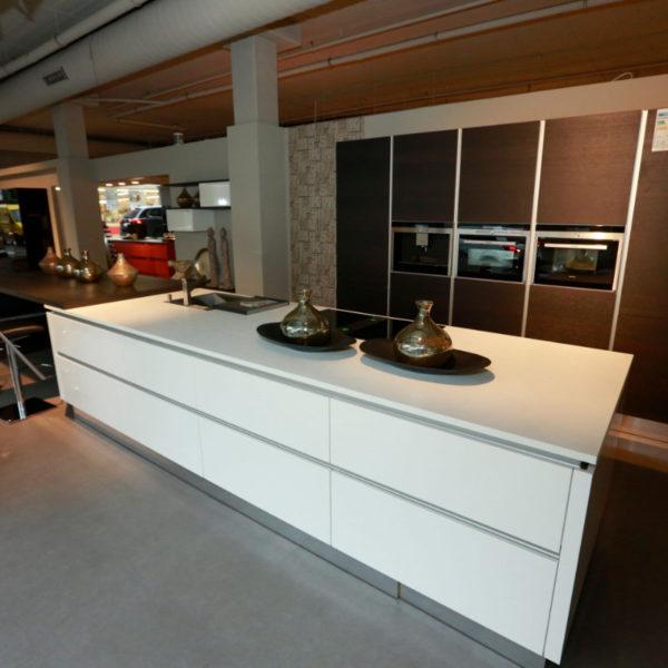 Nolte Küche Lack Weiß Eiche Mokka Schnäppchen (2)