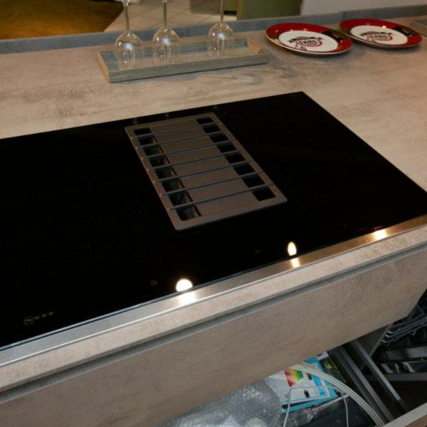 Nolte Küche Trend Lack Weiß Beton Abverkauf (12)