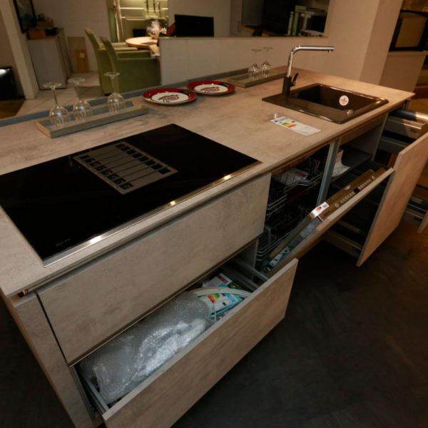 Nolte Küche Trend Lack Weiß Beton Abverkauf (13)