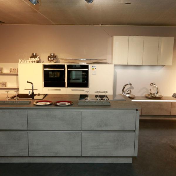 Nolte Küche Trend Lack Weiß Beton Abverkauf (2)