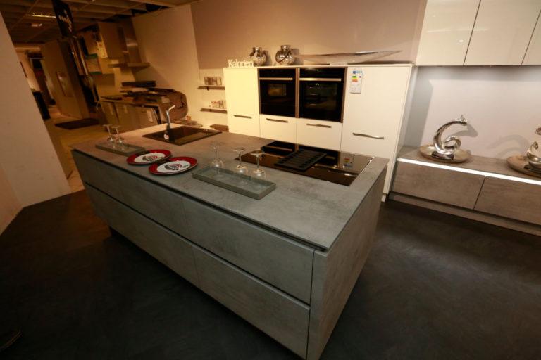 Nolte Küche Trend Lack Weiß Beton Abverkauf (3)