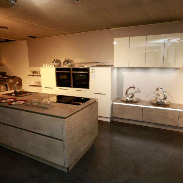 Nolte Küche Trend Lack Weiß Beton Abverkauf (4)