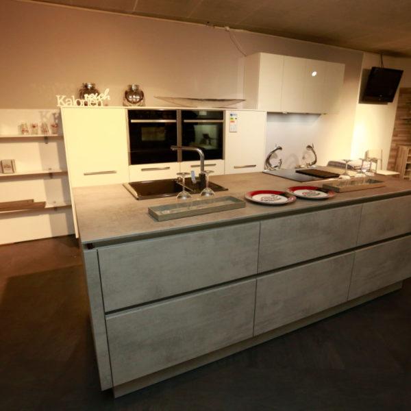 Nolte Küche Trend Lack Weiß Beton Abverkauf (8)