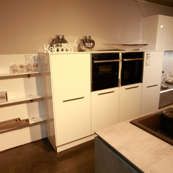 Nolte Küche Trend Lack Weiß Beton Abverkauf (9)
