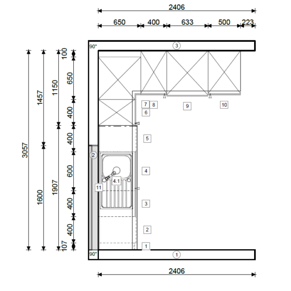 Schüller Hauswirtschaftsraum Nova In K090 Kristallweiß Matt (1)