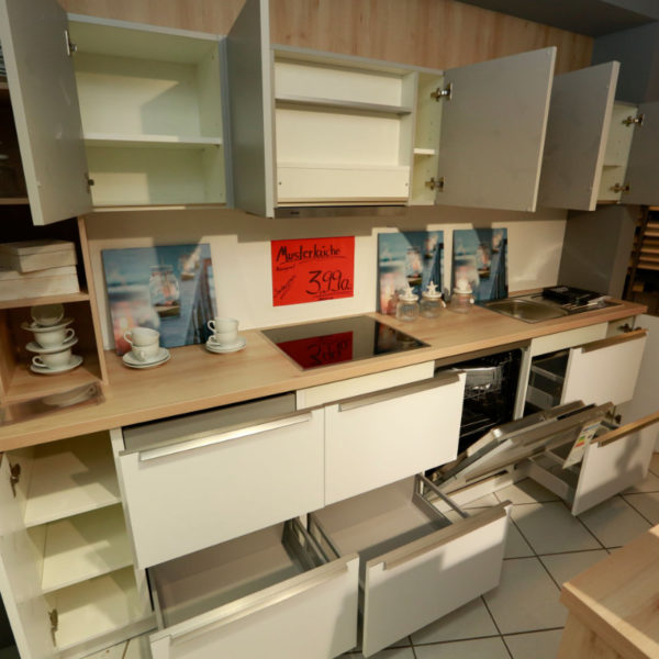Schüller Küche Pura Weiß Steingrau Resopal Angebot (11)