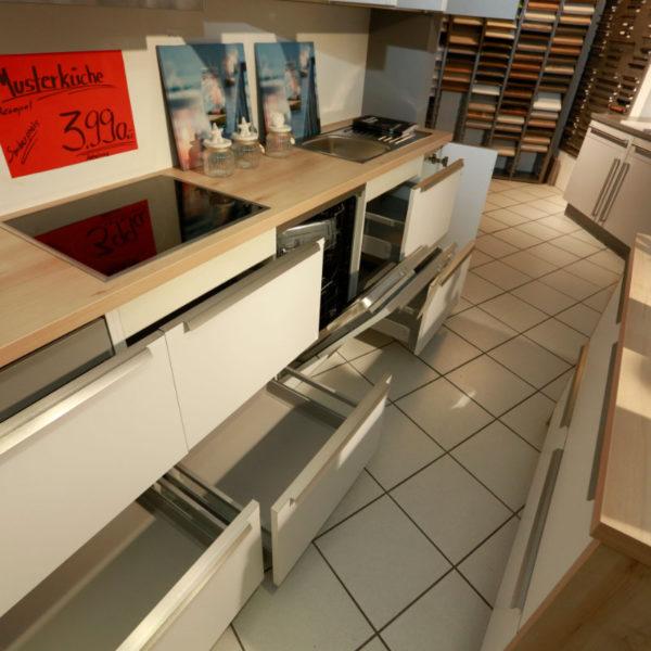 Schüller Küche Pura Weiß Steingrau Resopal Angebot (12)
