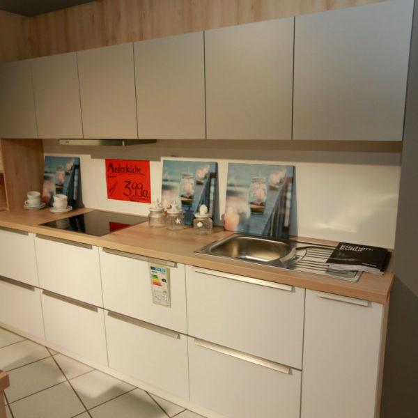 Schüller Küche Pura Weiß Steingrau Resopal Angebot (3)