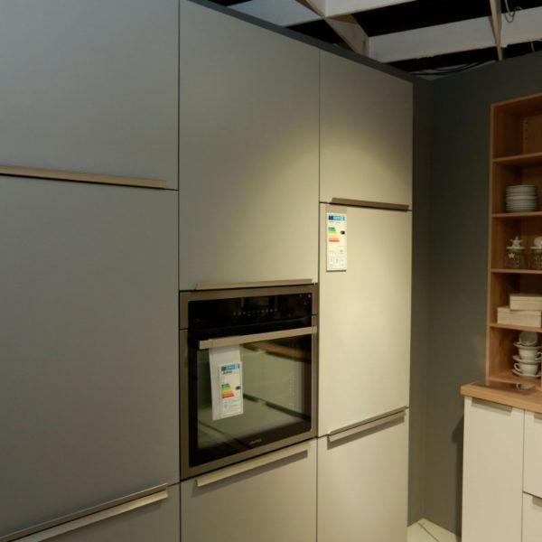 Schüller Küche Pura Weiß Steingrau Resopal Angebot (5)