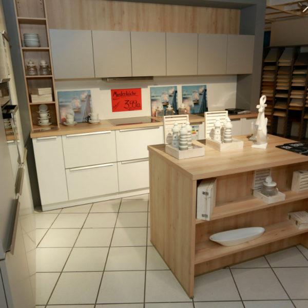 Schüller Küche Pura Weiß Steingrau Resopal Angebot (6)