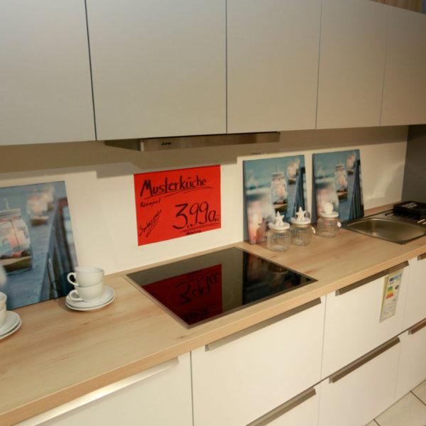 Schüller Küche Pura Weiß Steingrau Resopal Angebot (7)