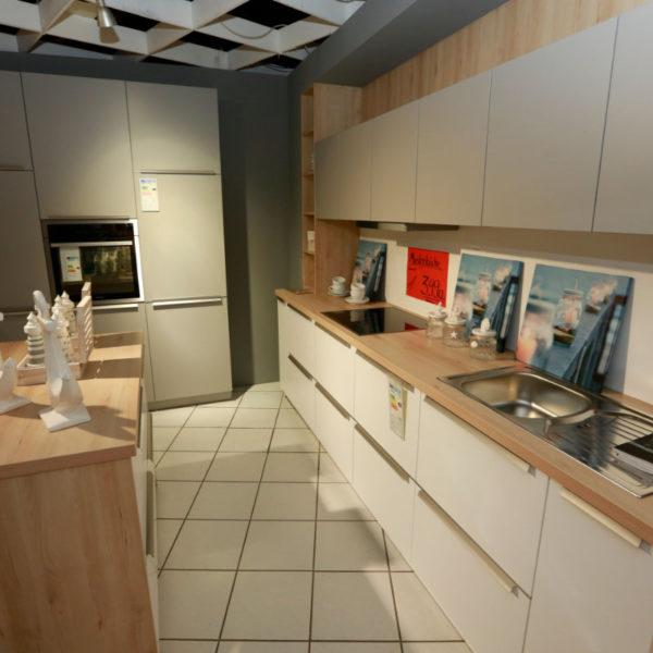 Schüller Küche Pura Weiß Steingrau Resopal Angebot (8)